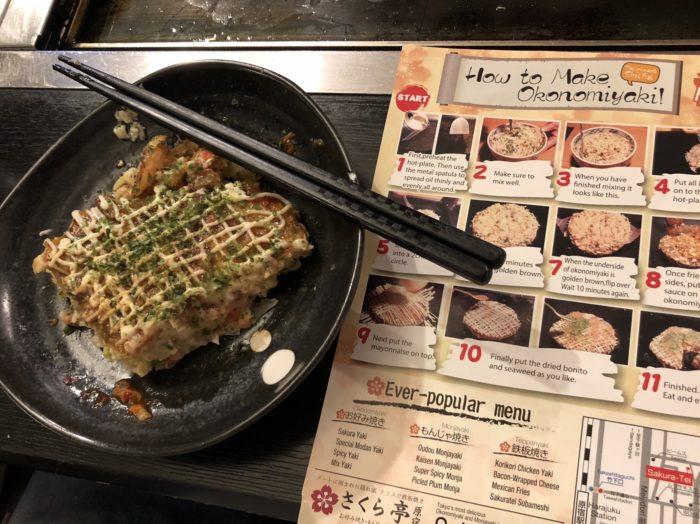 Tallrik med Okonomiyaki