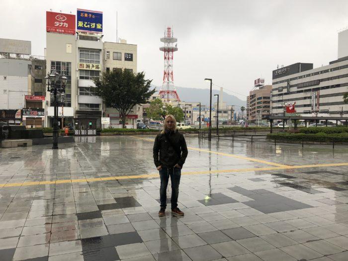 Jag utanför Mihara Station
