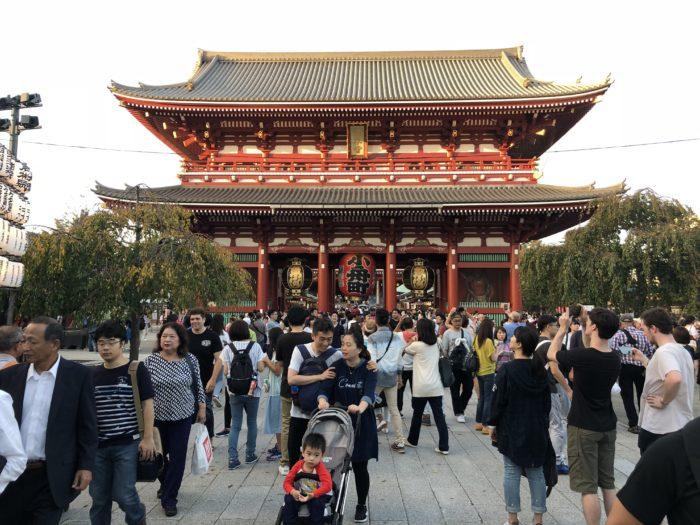 Sensoji-templet i Asakusa