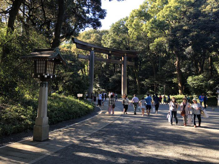 Väg till Meiji Jingu