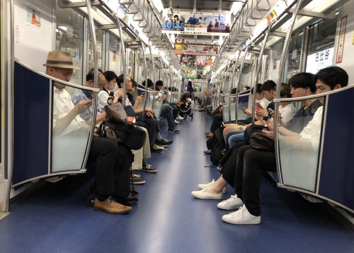 Tunnelbanevagn i Tokyo